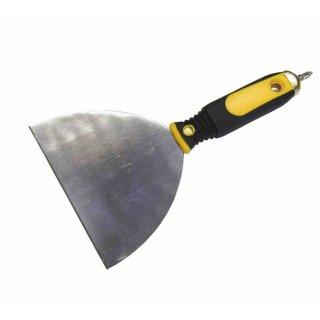 Trockenbau-Spachtel, Schraubgriffspachtel, Edelstahl, 150 mm, mit Bit im Griff