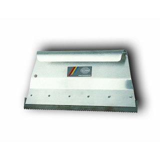 Aluminium Mutterspachtel AVANTI Breite 18 cm mit Klemmleiste und Zahnleiste B2