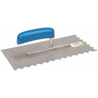 Amerikanische Glättekelle Zahnkelle - Zahnung: M1 - halbrund Normalstahl