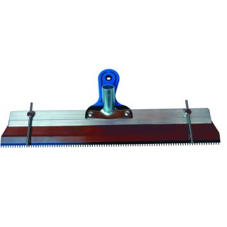 Großflächen-Zahnrakel 560 mm mit Stiften, rostfrei, Stiftrakel