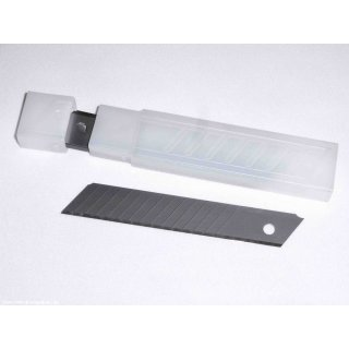 Abbrechklingen 10 St. á 18 mm, 15 Schneiden - beste Normqualität Ersatzklingen für Abbrechmesser