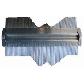 Konturenlehre Messlehre 130 mm, Metall, verzinkt