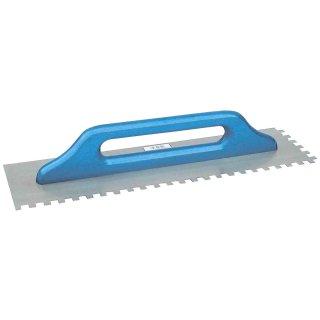 Schweizer Aufziehplatte, Zahnkelle - Zahnung: 10 mm Edelstahl 480 mm