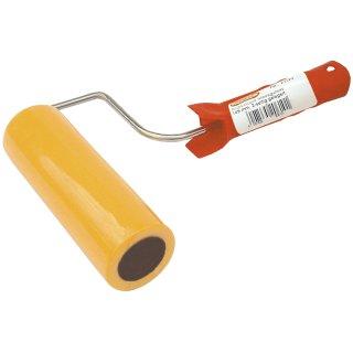 Andrückrolle für Tapeten mit Kunststoffgriff und weicher Zellkautschukwalze, 145 mm breit